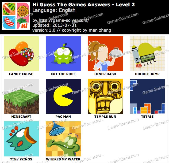 Hi Guess the Games Level 2
