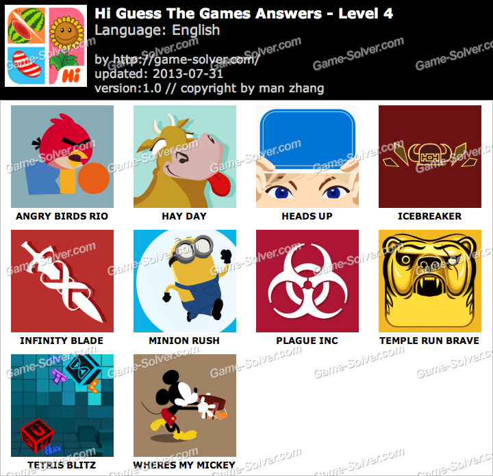 Hi Guess the Games Level 4