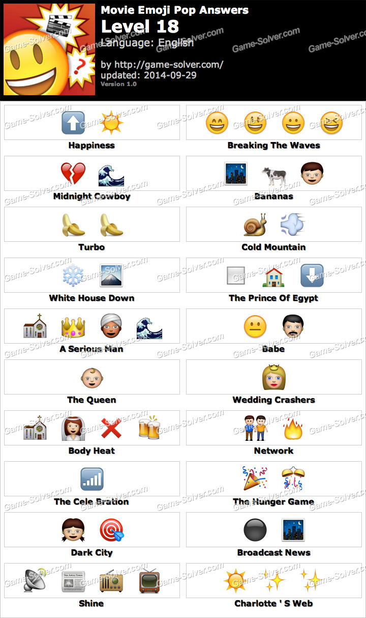 Movie Emoji Pop Level 18