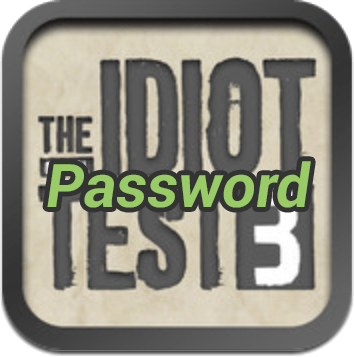 The Idiot Test 3 Password
