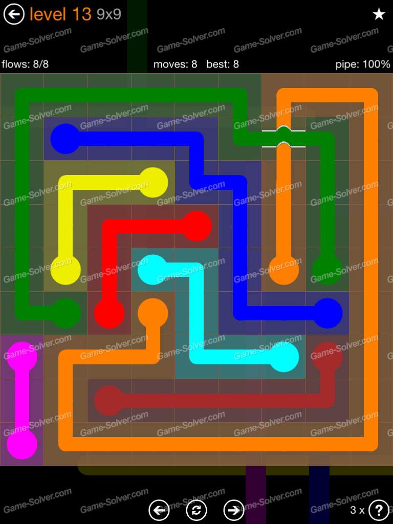Flow Free 9x9 Level 1 Shefalitayal