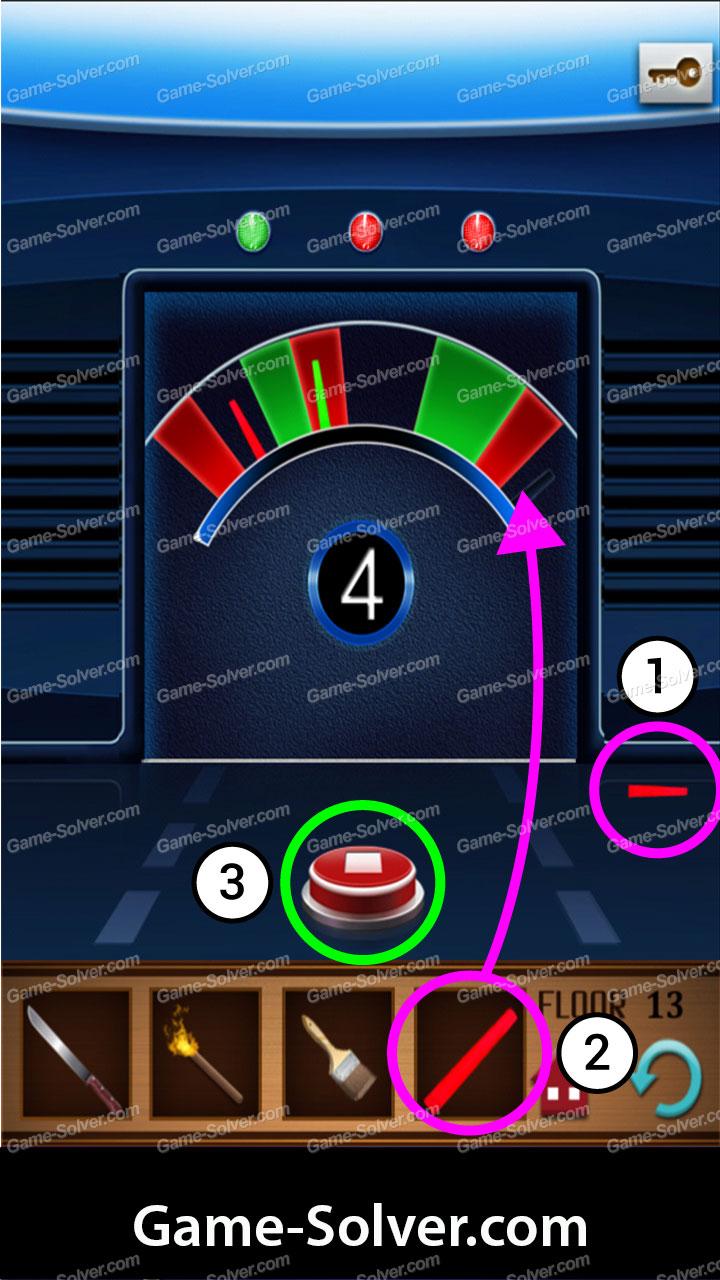 100 Floors Annex Level 13 Game Solver