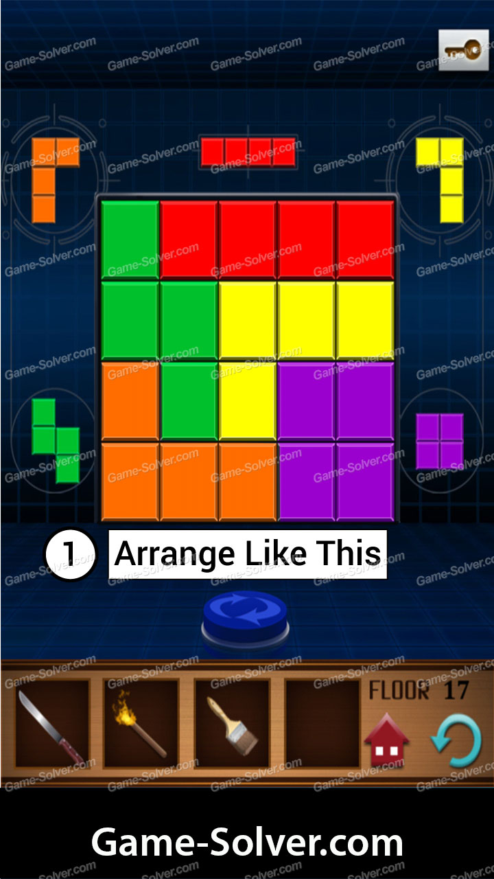 100 Floors Annex Level 17 Game Solver
