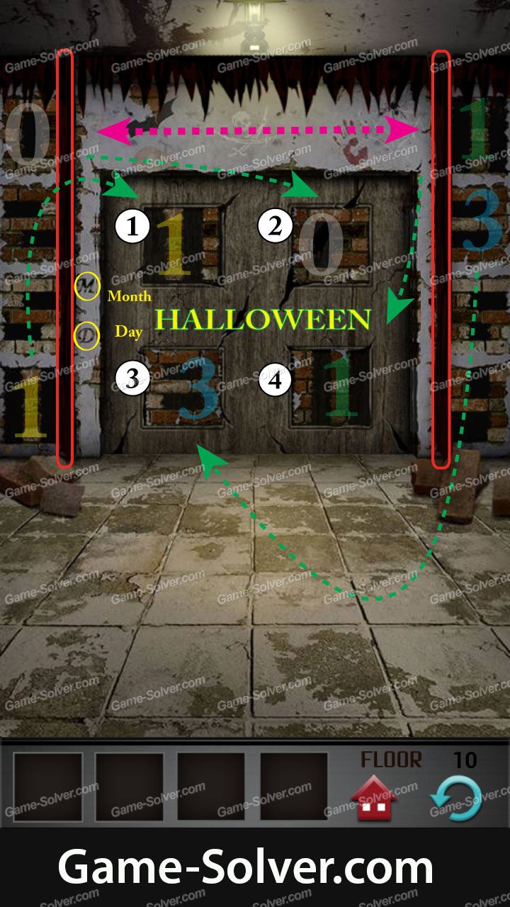 100 Floors Level 10 Game Solver