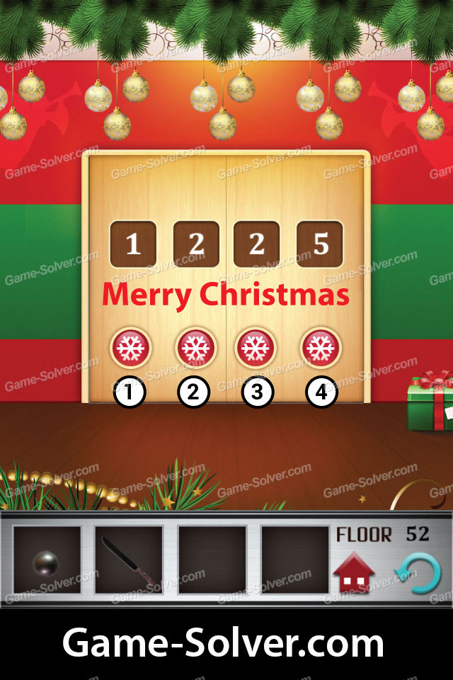100 Floors Level 52 Game Solver