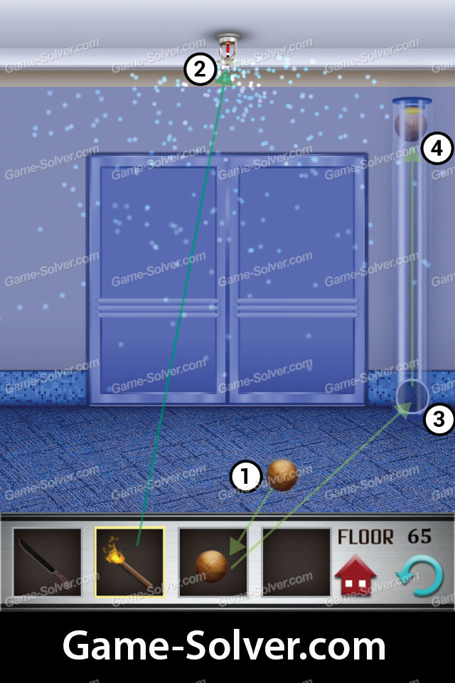 100 Floors Level 65 Game Solver