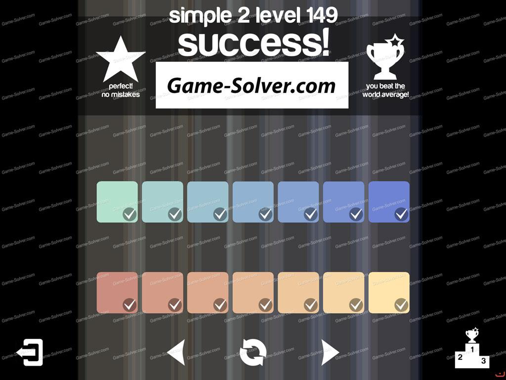 Blendoku Simple 2 Pack Level 149