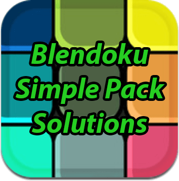 Blendoku Simple Pack Solutions