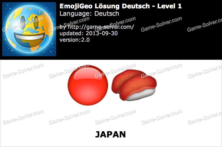EmojiGeo Deutsch Level 1