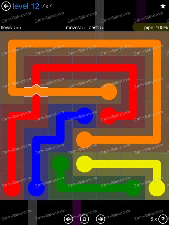 Flow Bridges Challenge Pack 7x7 Level 12