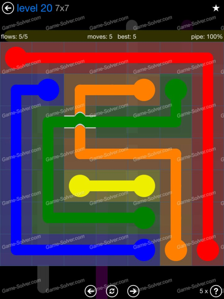 Flow Bridges Challenge Pack 7x7 Level 20