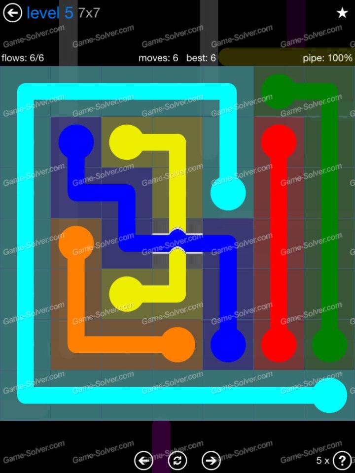 Flow Bridges Challenge Pack 7x7 Level 5