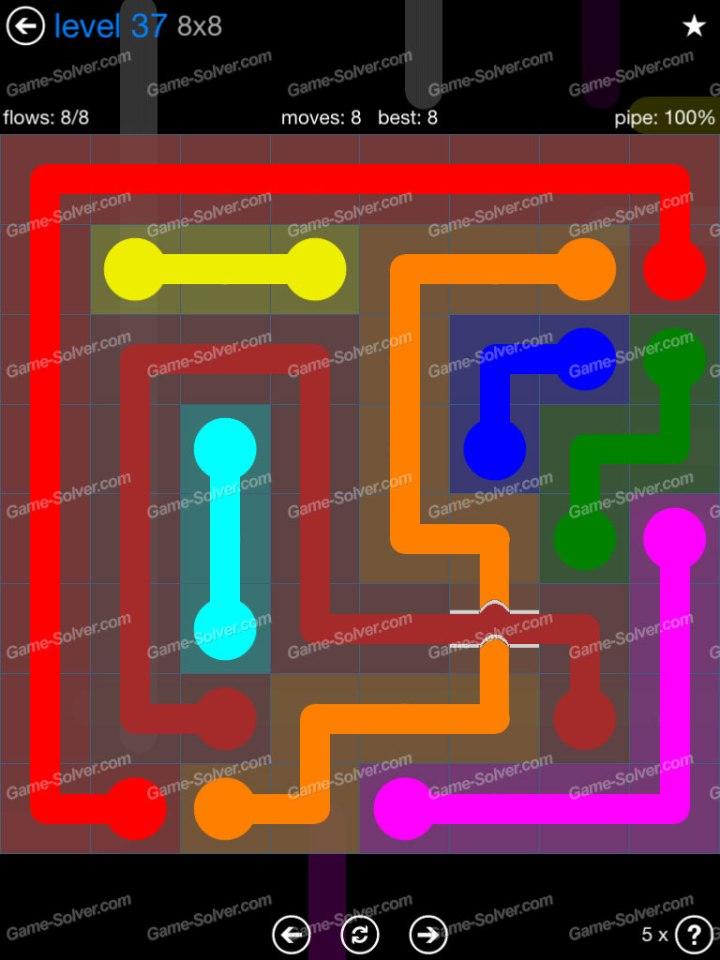 Flow Bridges Challenge Pack 8x8 Level 37