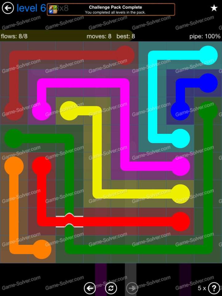 Flow Bridges Challenge Pack 8x8 Level 60