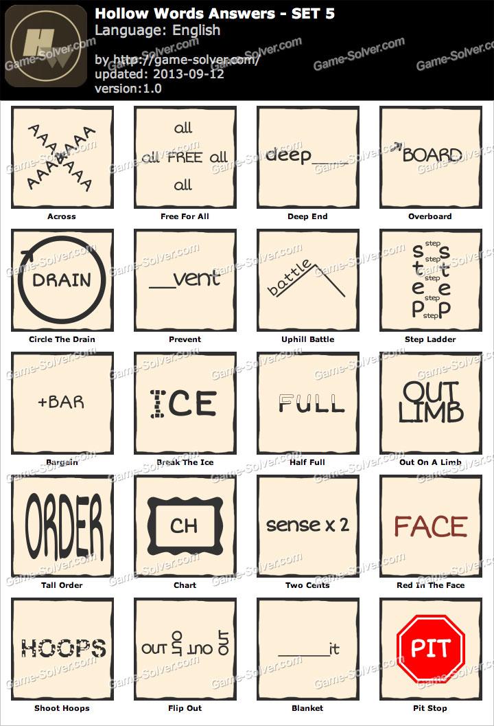 Hollow Words Set 5