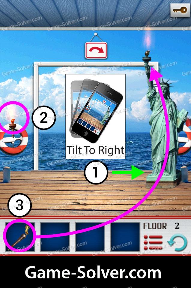 100 Floors World Tour Usa Pack Level 2 Game Solver