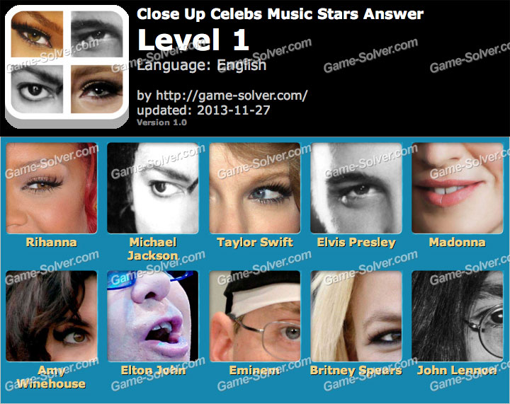 Close Up Celebs Music Star Edition Level 1