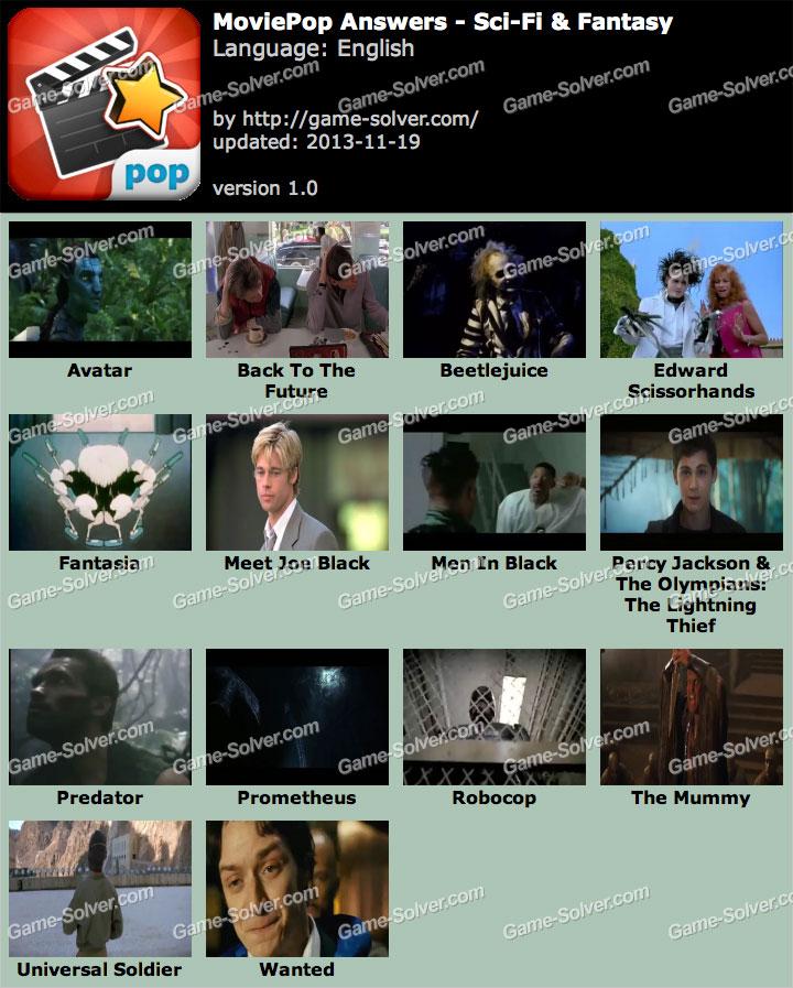 MoviePop Sci-Fi & Fantasy Answers