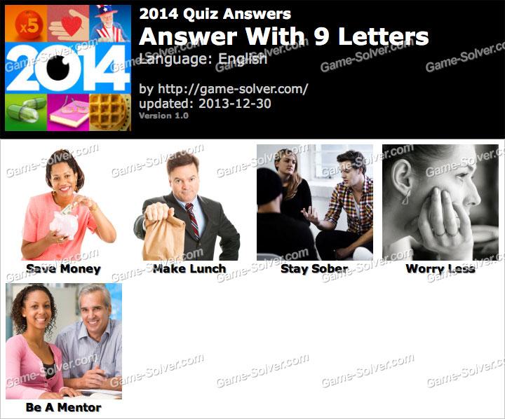 2014 Quiz 9 Letters