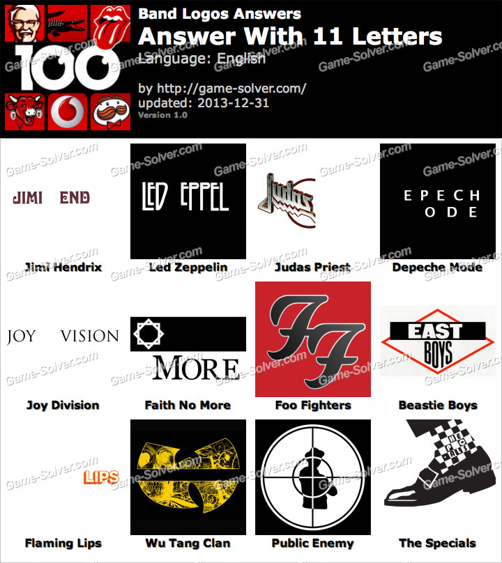 Band Logos 11 Letters