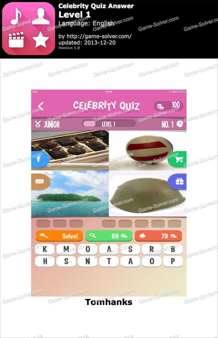 Celebrity Quiz Level 1