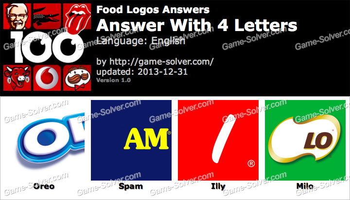 Food Logos 4 Letters