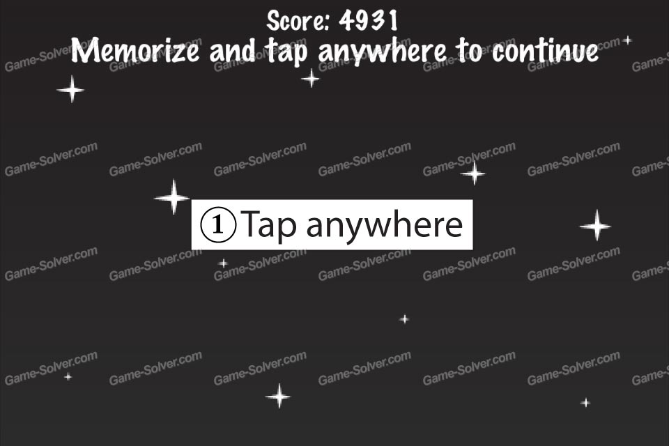 Impossible Test Space Memorize and tap anywhere to continue