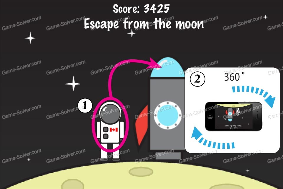 Impossible Test Space Escape from the moon