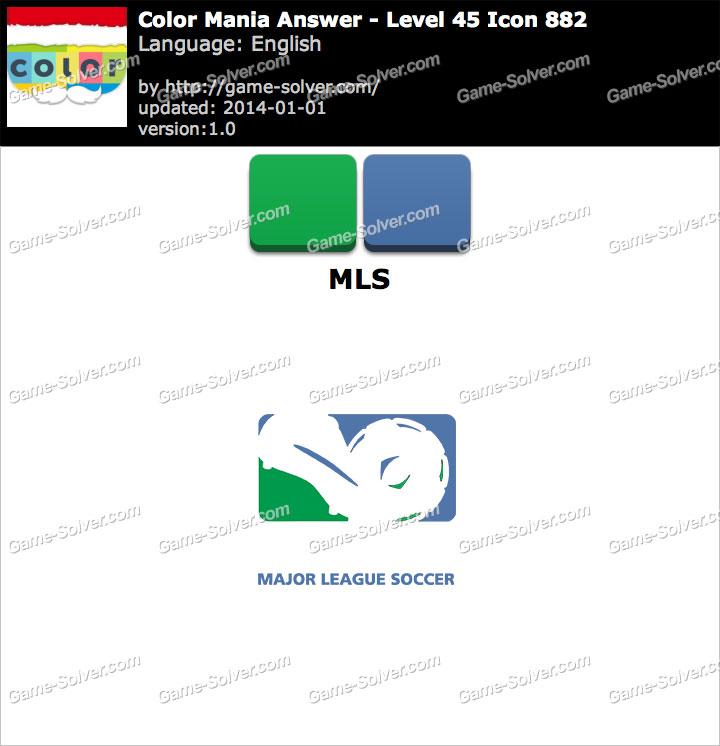 Colormania Level 45 Icon 882 MLS