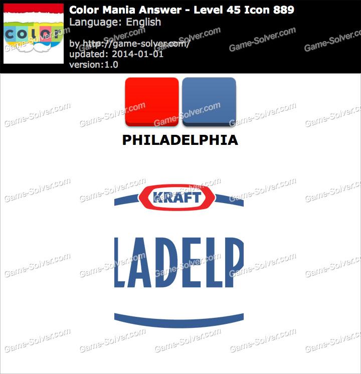 Colormania Level 45 Icon 889 PHILADELPHIA