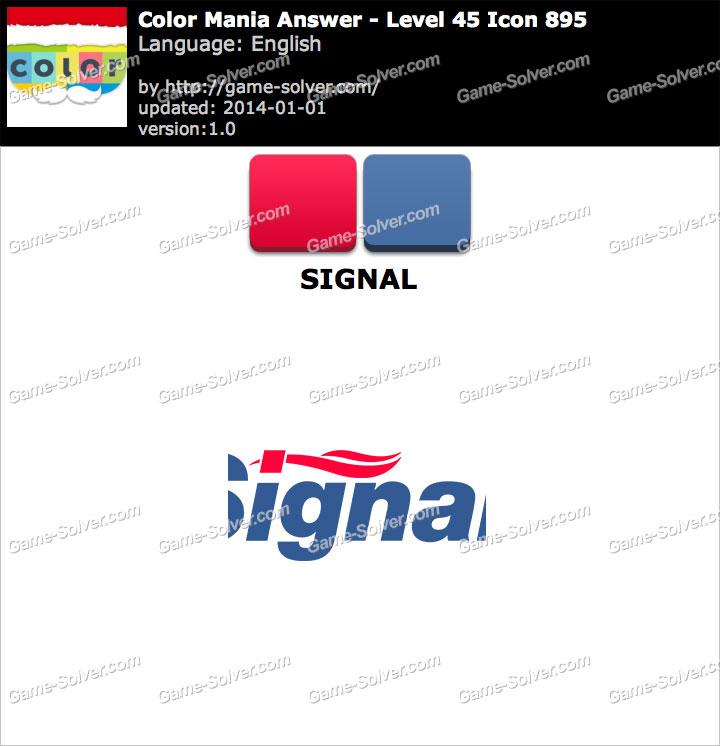 Colormania Level 45 Icon 895 SIGNAL