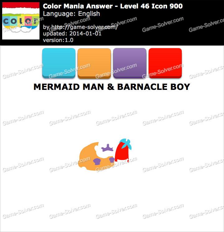 Colormania Level 46 Icon 900 MERMAID MAN & BARNACLE BOY