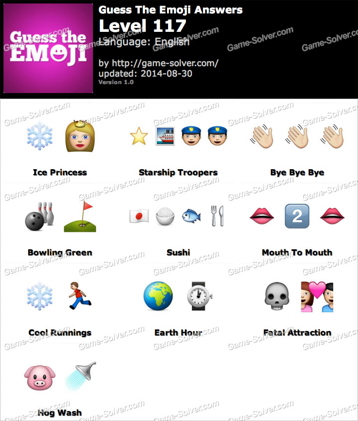 Guess the Emoji Level 117