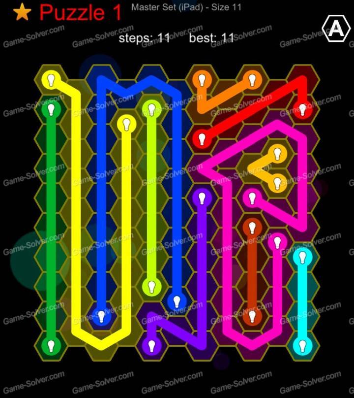 Hexic Flow Master Set Ipad Size 11 Puzzle 1