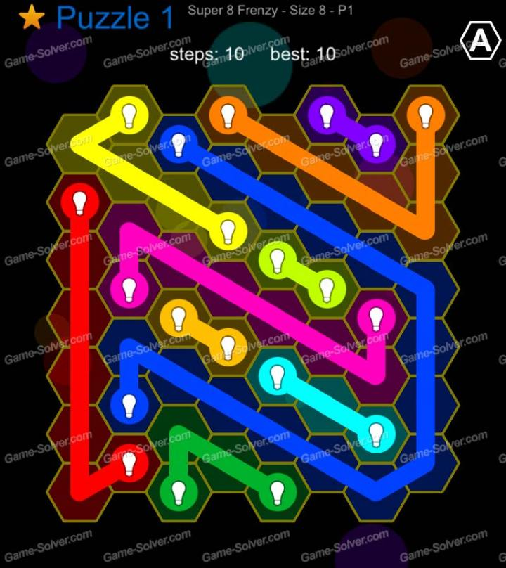 Hexic Flow Super 8 Frenzy P 1 Puzzle 1