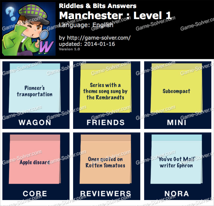 Riddles and Bits Manchester Level 1