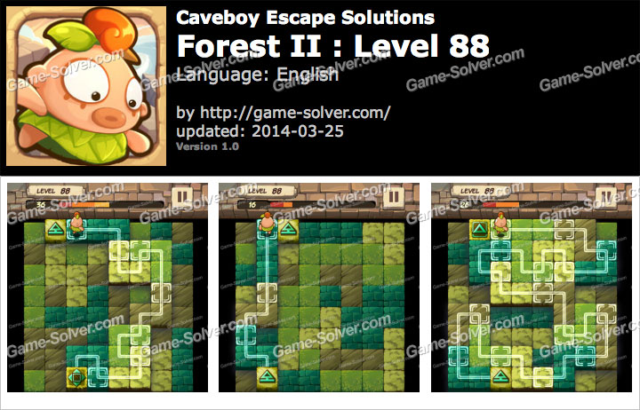 Caveboy Escape Forest II Level 88