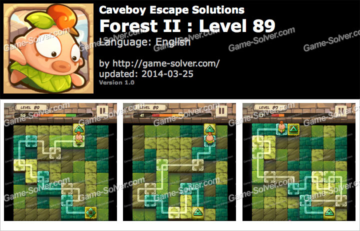 Caveboy Escape Forest II Level 89