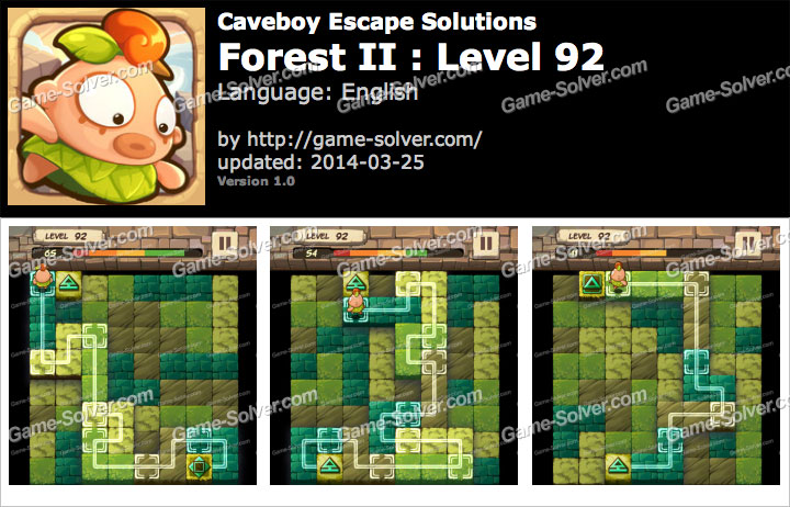 Caveboy Escape Forest II Level 92
