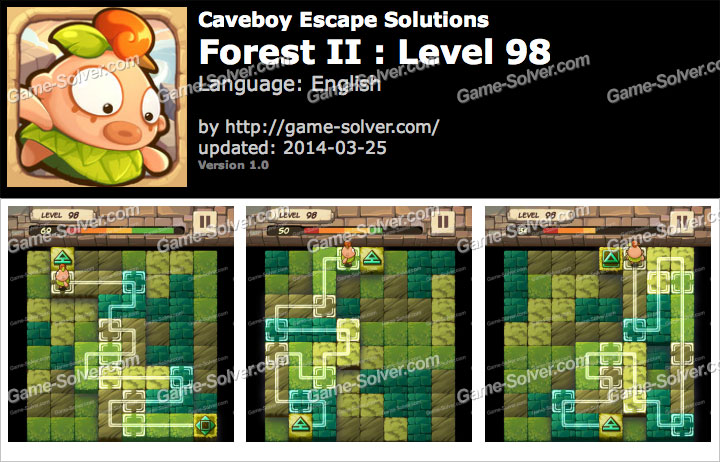 Caveboy Escape Forest II Level 98