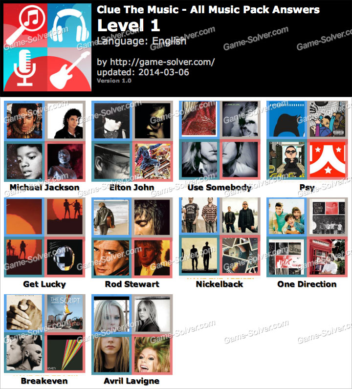 Clue The Music Level 1