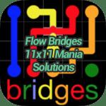 Flow Bridges 11×11 Mania Solutions