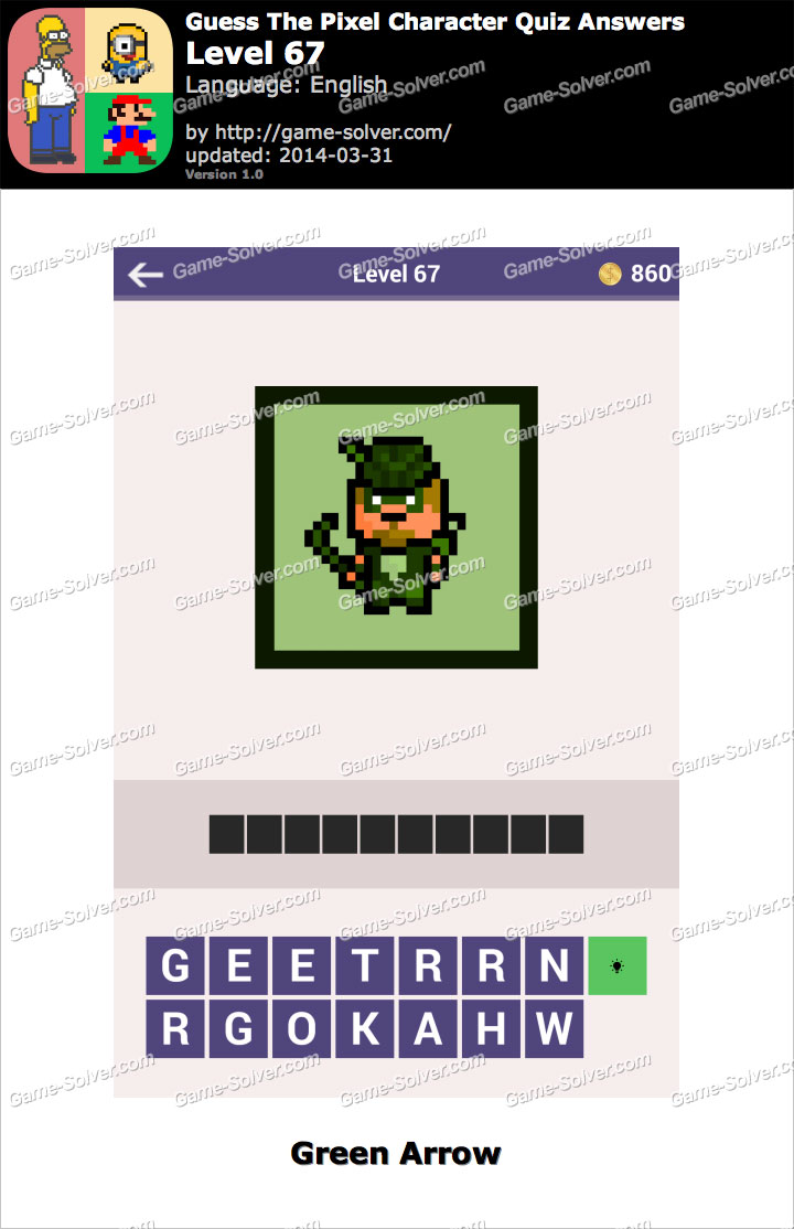 Guess The Pixel Character Quiz Level 67