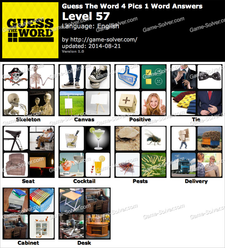 Guess The Word 4 Pics 1 Word Level 57