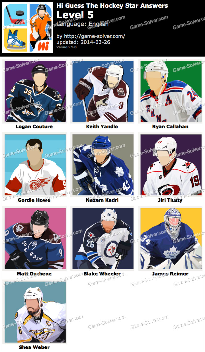 Hi Guess The Hockey Star Level 5