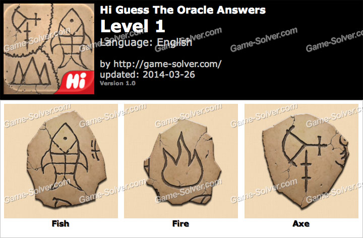 Hi Guess The Oracle Level 1