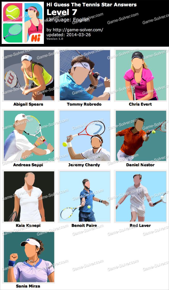 Hi Guess The Tennis Star Level 7