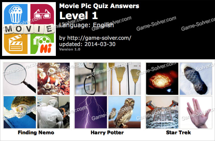 Movie Pic Quiz Level 1