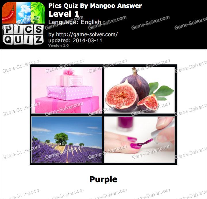 Pics Quiz Mangoo Level 1