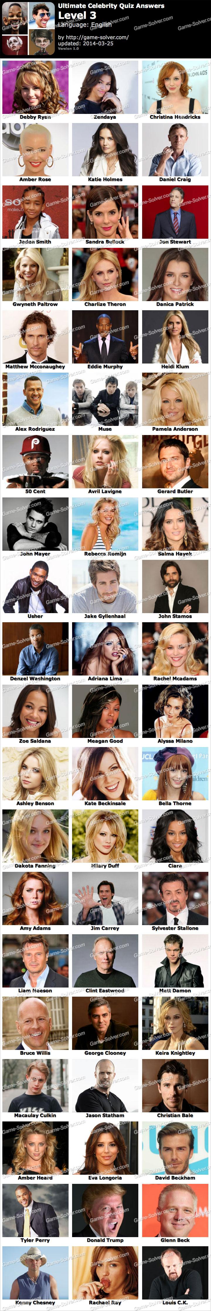 Ultimate Celebrity Quiz Level 3